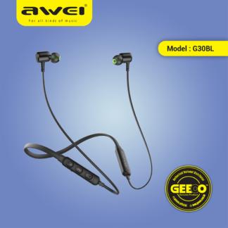 Awei G30BL Earphone Wireless Bluetooth 4.2 Headphones Neckband Sport Earbuds