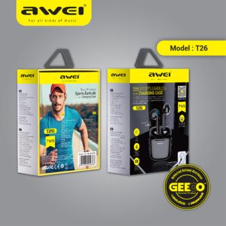 Awei T26 TWS Earbuds Wireless Bluetooth Earphone