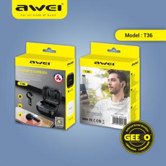 Awei T36 TWS Earbuds Wireless Bluetooth Earphone
