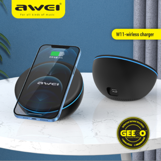 Awei W11 Magnetic Wireless Charger Qi Fast Charging 10 Watt Support QC3.0 PD For Smart Phones