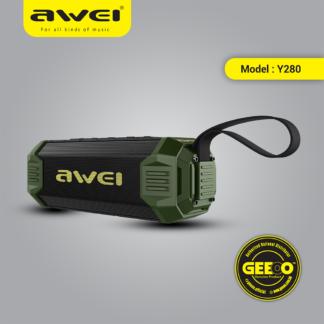 Awei Y280 Portable Waterproof Bluetooth Speaker With 4000 mAh Power Bank